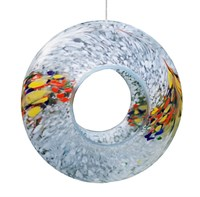 Sienna Glass Bird Feeder, white