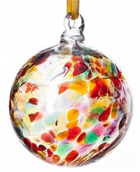 Amelia Art Glass Friendship Ball, 10 cm multicoloured