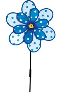 Polka Dot Flower Spinner, blue