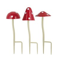 Set of 3 Fantasy Metal Toadstools