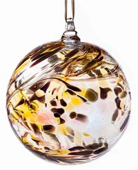Amelia Art Glass Friendship Ball, 10 cm gold