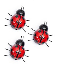 Set of 3 Small Red Ladybirds