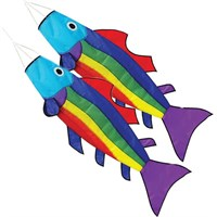 Rainbow Fish Windsocks, pair