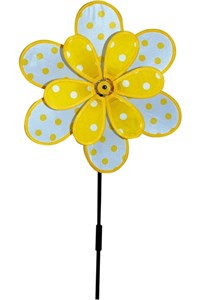 Polka Dot Flower Spinner, yellow