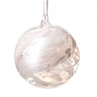 Amelia Art Glass Friendship Ball, 12 cm white