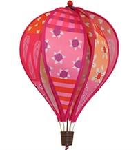 Hot Air Balloon Spinner, Patchwork Pink