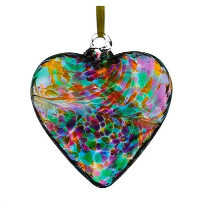 Sienna Glass Friendship Heart, 12 cm multi-turquoise