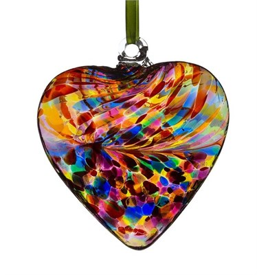 Sienna Glass Friendship Heart, 8 cm multicolour