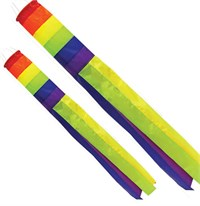 Rainbow Windsocks, large plus medium