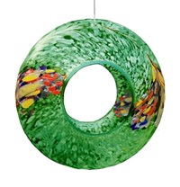 Sienna Glass Bird Feeder, green