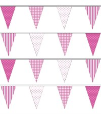 Pink Party Bunting - 9 metres