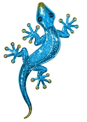 Blue Glass Gecko, 61 cm