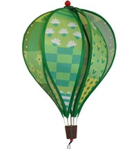 Hot Air Balloon Spinner, Patchwork Green