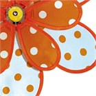 Polka Dot Flower Spinner, orange